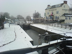 Winter at Trent Lock (Near Nottingham) (glitterbear1) Tags: winter snow water canal wonter trentlock