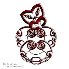 Maori Art - Hei Tiki (dragonaotearoa) Tags: newzealand art illustration design native nz designs maori tshirts ethnic aotearoa vector illustrationmaoriart
