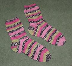 L&V Sock Marathon #4 - Boring Opal socks