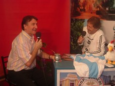 Mateo Palmeri (conductor de Radio-Imagen), Miguel Montersino (atleta)