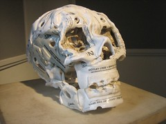 Casette Tape Skull (Andrew Huff) Tags: sculpture art skull heavymetal tapes casettes museumofsurgicalscience briandettmer internationalmuseumofsurgicalscience