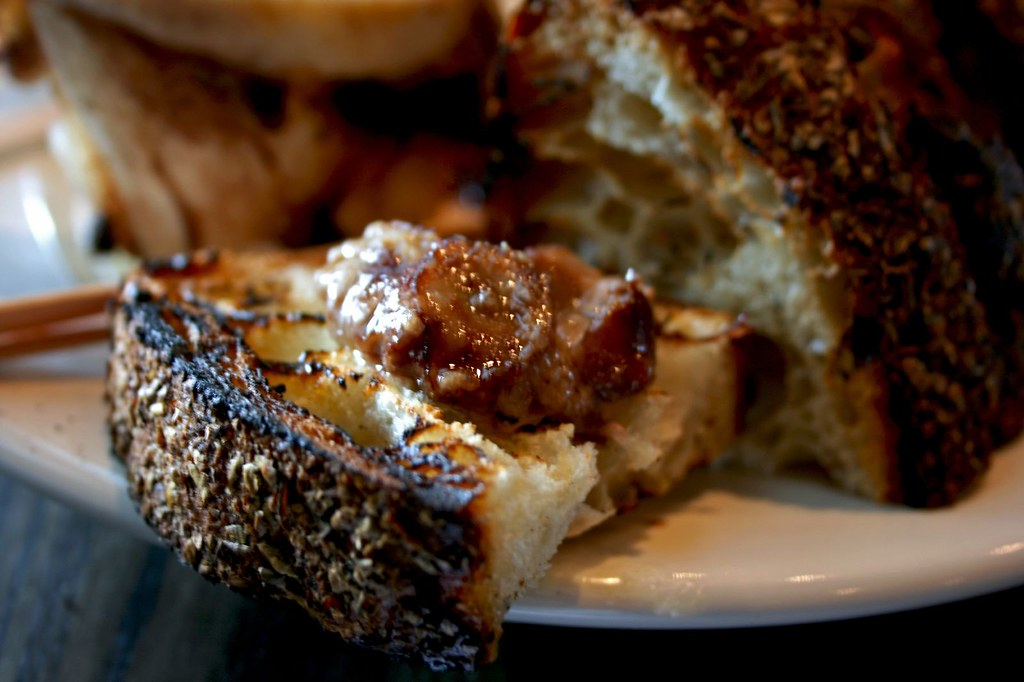 Bone Marrow on Charred Grilled Country Bread