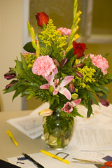 Birthday flowers from Torrie!