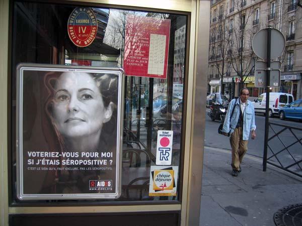 Campagne (électorale) contre le SIDA - Ségolène Royal