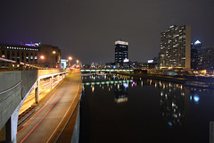 Schuylkill River (wmliu) Tags: city usa reflection philadelphia water rain night river us pennsylvania pa philly 1022mm schuylkill i76 canonefs1022mmf3545usm wmliu