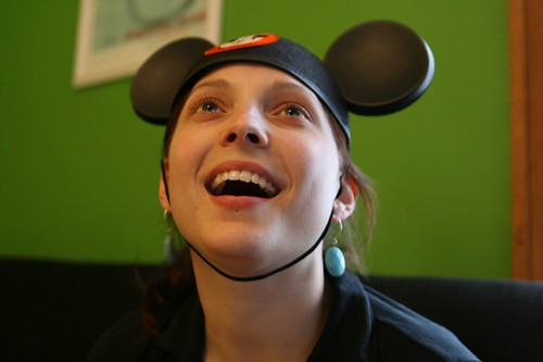 Doesn't Angie make the cutest mouseketeer?