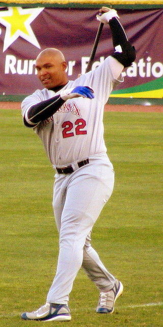 Marlon Byrd, recently promoted to the Texas Rangers