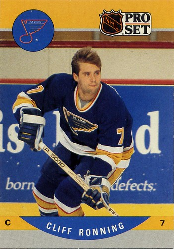 Cliff Ronning, St. Louis Blues, Pro-Set, 90-91, series 2, hockey cards