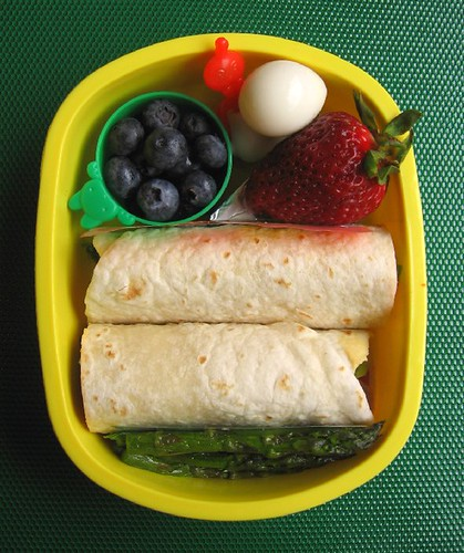 Lamb & hummus wrap lunch for toddler