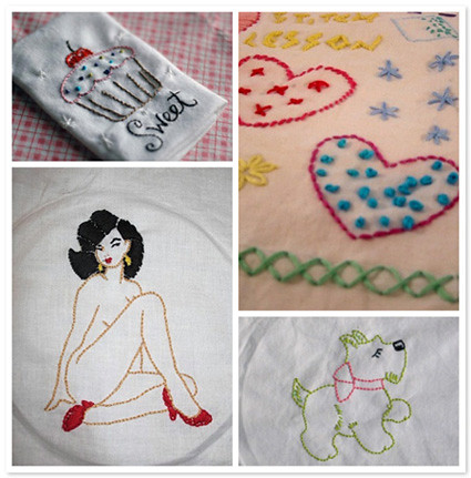 first embroideries by talented Flickrers!