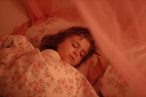 asleep in pink