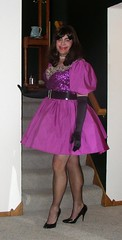 Purple Square Dance (Deedee Fullskirt) Tags: heels slip miniskirt crossdresser petticoat