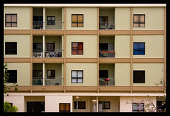 (Shemer) Tags: windows urban building window square colours squares balcony symmetry balconies curtains block bestofisraelproject2007