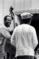 Percy & Jimmy Heath (Tom Marcello) Tags: musicians photography bass jazz saxophone jazzmusic jazzmusicians percyheath jimmyheath jazzplayers jazzphotos jazzphotography heathbrothers theheathbrothers jazzphotographs tommarcello
