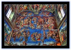 Cappela Sistina (Giorgos~) Tags: travel italy vatican rome art painting fresco soe hdr giorgos michaelangelo cappellasistina i500 photomatrix sixteenchappel