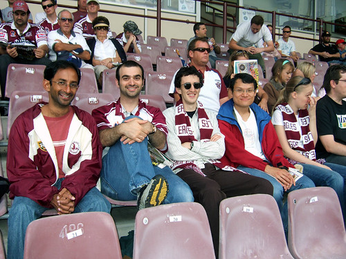 Astronomers at the Manly game