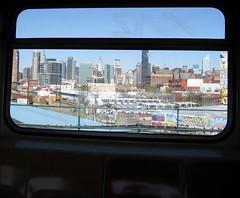 Vista de Manhattan desde el tren 7