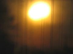 Softly reflected sunrise (peggyhr) Tags: orange tree yellow sunrise gold edmonton rooflines