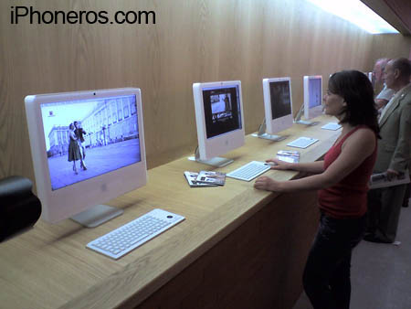 iMacs en el Centro de Turismo de Madrid