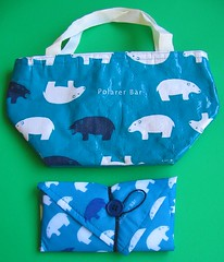 "Insulated ""Polarer Bear"" lunch cloth and bag"