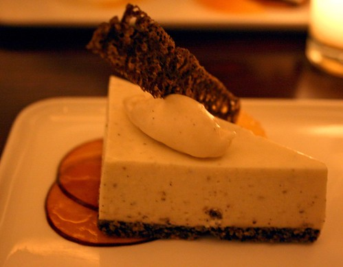 Sancho Pepper Tofu Cheesecake