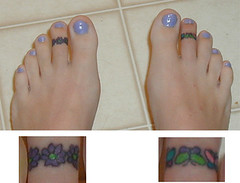 Tattooed Toes (Kerrie Lynn Photography (Sugaree_GD)) Tags: feet tattoo toes toe tattoos views 1000 sugareegd