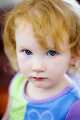 uncertain (mosippy) Tags: kids blueeyes naturallight redhead 2yearsold canonef50mmf14usm jocie seriouskids kidportraits
