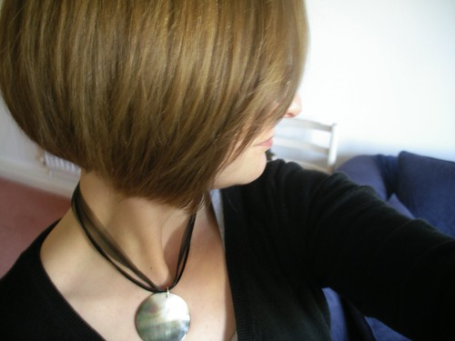 Concave Bob back view of Stacked bob Haircut