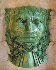 green man 1 (origami joel) Tags: face paper origami mask folding