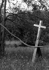 Pray before entering (Digital Arteese) Tags: cross redoak reindeermanor