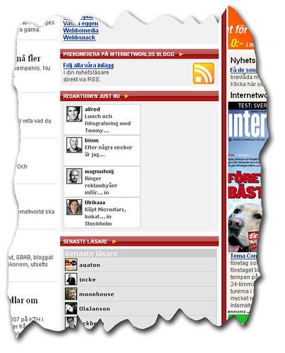 Internetworlds blogg med jaiku-badges
