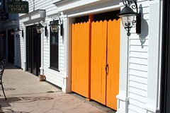 Orange Door on Mackinac