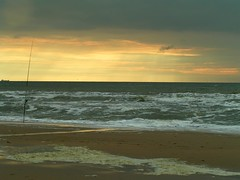 no angler (leuntje) Tags: sunset zonsondergang katwijk