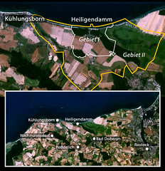 Satellitenbild der Gegend um Heiligendamm