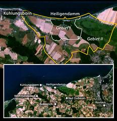 Satellitenbild der Gegend um Heiligendamm