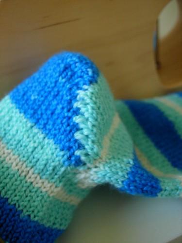 Yarntini heel detail
