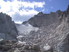 Snow Creek Glacier.08-19-05 ....... Nothing left but old ice.