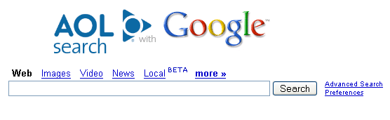 AOL with Google