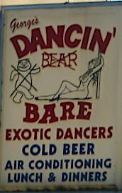 Dancin' Bare sign