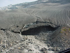 SNout of glacier from chopper