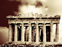 A witness of time (mark.os) Tags: sepia athens parthenon greece acropolis peopleschoice 5thcenturybc superaplus aplusphoto goldenphotographer