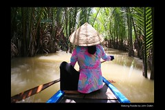 Mekong Paddle (Heaven`s Gate (John)) Tags: vacation plants water river print botanical boat paddle vietnam swamp mekongdelta saigon soe hochiminh photooftheday mekongriver reflectionsoflife 50faves 25faves johndalkin heavensgatejohn aplusphoto holidaysvacanzeurlaub onlythebestare 27may2007