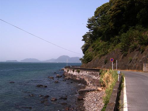 From road Izu Shizuoka prefecture