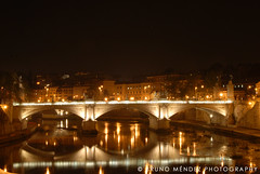The Bridge (BRUNO MNDEZ PHOTOGRAPHY) Tags: bridge light italy rome roma water rio night river puente lights luces noche agua italia vaticano nocturna bruno vaticane blueribbonwinner mndez diamondclassphotographer flickrdiamond brunomndez brunomndezphotography