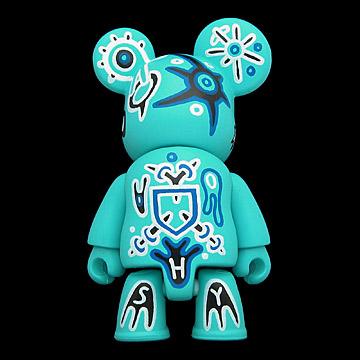 0530. Series 5B - Sasha Huber-Shy = Veve #4 (blue, mystery figure) (2005) - 02