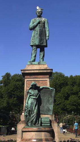 Helsinki - EWstatua poeta Johan Ludvig Roneberg
