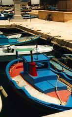 Boats in the harbour, Favignana (willskii) Tags: italy 2004 island may sicily favignana egadiislands