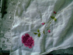 rose embroidered on a handkerchief (Yakima_gulag) Tags: pretty things