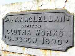 Bridge plaque - 1890 construction