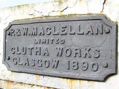 Bridge plaque - 1890 construction